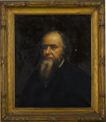 "Political:Miscellaneous Political, [Edwin M. Stanton] Portrait of Edwin M. Stanton. Oil on canvas, 25""x 30"", framed to an overall size of 34"" x 39""...."