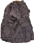 Political:Presidential Relics, Mary Todd Lincoln's Mourning Skirt. Black silk skirt with flounces and ribbon ties, said (when exhibited in 1934) to have be...