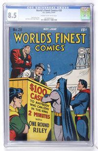 World's Finest Comics #28 (DC, 1947) CGC VF+ 8.5 Cream to off-white pages