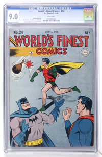 World's Finest Comics #24 (DC, 1946) CGC VF/NM 9.0 White pages