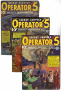 Pulps:Detective, Operator #5 Group (Popular, 1937-39) Condition: Average VG....(Total: 5 Items)