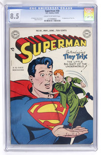 Superman #58 (DC, 1949) CGC VF+ 8.5 Cream to off-white pages