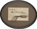 "Autographs:U.S. Presidents, [Mary Todd Lincoln] Copious ""Lock of Mrs. Lincoln's Hair"",so identified in manuscript note written on the card ..."