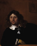 Old Master:Dutch, BARTHOLOMEUS VAN DER HELST (Dutch, 1613-1670). Portrait of aGentleman, 1659. Oil on canvas. 30 x 25 inches (76.2 x 63.5...