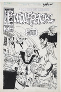 Original Comic Art:Covers, Ron Wilson and Chris Ivy Wolfpack #11 Cover Original Art(Marvel, 1989)....