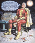 Original Comic Art:Illustrations, Marc Swayze Captain Marvel Memories Painting Original Art (undated)....