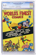 Golden Age (1938-1955):Superhero, World's Finest Comics #10 (DC, 1943) CGC VF+ 8.5 Off-white to white pages. ...