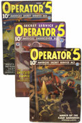 Pulps:Detective, Operator #5 Group (Popular, 1935) Condition: Average VG.... (Total:3 Items)