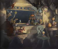 Pinocchio Animation Production Background Original Art (Disney, 1940)