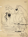 Original Comic Art:Illustrations, Frank Frazetta George Roussos Sketchbook IllustrationOriginal Art (circa 1942)....
