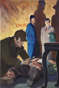 Original Comic Art:Covers, Classics Illustrated #110 A Study in Scarlet SherlockHolmes Painted Cover Original Art (Gilberton, 1953)....
