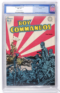 Boy Commandos #9 Hawkeye pedigree (DC, 1944) CGC NM- 9.2 Off-white to white pages