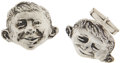 Memorabilia:MAD, Mad Alfred E. Neuman Large Cuff Link Set (1957).... (Total:2 Items)