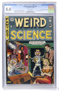 """Golden Age (1938-1955):Science Fiction, Weird Science #15 (#4) Davis Crippen (""""D"""" Copy) pedigree (EC, 1950)CGC VF 8.0 Off-white pages. ..."""