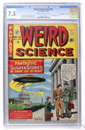 "Golden Age (1938-1955):Science Fiction, Weird Science #13 (#2) Davis Crippen (""D"" Copy) pedigree (EC, 1950) CGC VF- 7.5 Cream to off-white pages. ..."