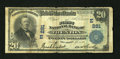 National Bank Notes:New Jersey, Trenton, NJ - $20 1902 Plain Back Fr. 650 The First NB Ch. #(E)281. ...