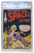 "Golden Age (1938-1955):Science Fiction, Space Action #3 Davis Crippen (""D"" Copy) pedigree (Ace, 1952) CGCVF/NM 9.0 Off-white pages. ..."