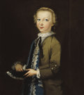 Fine Art - Painting, European:Antique  (Pre 1900), BRITISH SCHOOL (18th Century). Portrait of Boy with Bird. Oil on canvas. 25-1/2 x 22-1/2 inches (64.8 x 57.2 cm). ...