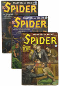 Pulps:Hero, The Spider Group (Popular, 1936) Condition: Average VG.... (Total: 6 Items)