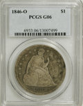Seated Dollars: , 1846-O $1 G6 PCGS. PCGS Population (1/176). NGC Census: (0/136).Mintage: 59,000. Numismedia Wsl. Price for NGC/PCGS coin i...