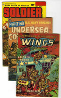 Golden Age (1938-1955):War, Miscellaneous Golden Age War Group (Various Publishers, 1950s)Condition: Average VG/FN.... (Total: 12 Comic Books)