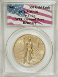 Modern Bullion Coins: , 1991 G$50 One-Ounce Gold Eagle MS70 PCGS. 9-11-01 WTC Ground Zero.PCGS Population (29/0). NGC Census: (12/0). Mintage: 243...