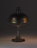 Lighting:Lamps, TIFFANY STUDIOS. A Patinated Metal and Bronze Table Lamp, circa 1910. Base stamped: TIFFANY STUDIOS / NEW YORK / 569. 17... (Total: 2 Items)