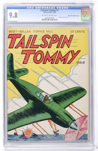 Tailspin Tommy #1 Mile High pedigree (Service Publications, 1946) CGC NM/MT 9.8 Off-white to white pages