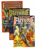 Pulps:Science Fiction, Captain Future Group (Better Publications, 1940-42) Condition:Average VF.... (Total: 10 Items)
