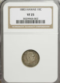 Coins of Hawaii: , 1883 10C Hawaii Ten Cents VF25 NGC. NGC Census: (6/263). PCGSPopulation (30/397). Mintage: 250,000. (#10979)...
