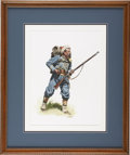 Military & Patriotic:Civil War, Original Signed and Dated Watercolor by Noted Military Artist Don Troiani....