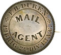 """Military & Patriotic:Civil War, Rare Identification-Corps Badge of a Soldier Serving as """"Mail Agent."""" Sergeant Freeman H. Duren, Co. B, 13th Mass. Vol. Infa..."""