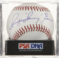 "Autographs:Baseballs, Dwight ""Dewey"" Evans Single Signed Baseball PSA Mint+ 9.5. ..."