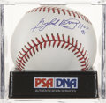 "Autographs:Baseballs, Gaylord Perry ""HOF 91"" Single Signed Baseball, PSA Mint+ 9.5. ..."
