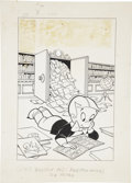 Original Comic Art:Covers, Warren Kremer Richie Rich #14 Cover Original Art (Harvey,1962)....