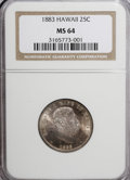 Coins of Hawaii: , 1883 25C Hawaii Quarter MS64 NGC. NGC Census: (174/195). PCGSPopulation (299/242). Mintage: 500,000. (#10987)...