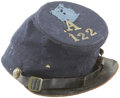 Military & Patriotic:Civil War, United States Army Issue Forage Cap with Original Corps Badge and Brass Insignia. Showing wear, this typical dark blue regul...