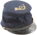 Military & Patriotic:Civil War, Fine Private Purchase McDowell Pattern Cap with Original Brass Insignia. This attractive cap is attributed to an unknown mem...