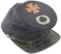 Military & Patriotic:Civil War, Commercially Produced Forage Cap with Large V Corps Insignia. This example of a privately purchased cap reflects the high qu...