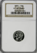 Proof Roosevelt Dimes: , 1955 10C PR68 Cameo NGC. NGC Census: (167/22). PCGS Population(45/2). (#85230)...
