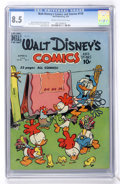 Golden Age (1938-1955):Cartoon Character, Walt Disney's Comics and Stories #115 (Dell, 1950) CGC VF+ 8.5Cream to off-white pages....