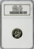 Proof Roosevelt Dimes: , 1952 10C PR66 Cameo NGC. NGC Census: (24/85). PCGS Population(45/44). Numismedia Wsl. Price for NGC/PCGS coin in PR66: $1...