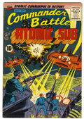 Golden Age (1938-1955):War, Commander Battle And The Atomic Sub #7 (ACG, 1955) Condition:FN+....
