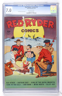 Red Ryder Comics #6 (Dell, 1942) CGC FN/VF 7.0 Off-white pages