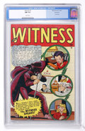 Golden Age (1938-1955):Crime, Witness #1 Vancouver pedigree (Marvel, 1948) CGC NM 9.4 White pages....