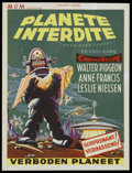 "Movie Posters:Science Fiction, Forbidden Planet (MGM, 1956). Belgian (14.5"" X 19""). ScienceFiction...."