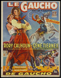 "Movie Posters:Adventure, Way of a Gaucho (20th Century Fox, 1952). Belgian (14"" X 18.25"").Adventure...."