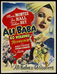 "Ali Baba and the Forty Thieves (Universal, 1940s). Belgian Post-War Release (14"" X 18.5""). Fantasy"