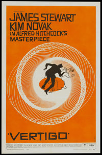 "Vertigo (Paramount, 1958). One Sheet (27"" X 41"")"