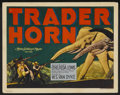 "Movie Posters:Adventure, Trader Horn (MGM, R-1938). Title Lobby Card (11"" X 14"").Adventure...."